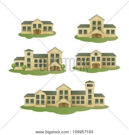 Buildings. Vector set