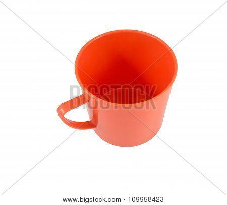 Red Mug On A White Background