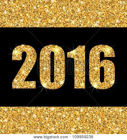 Shimmering Background with Golden Dust for Happy New Year