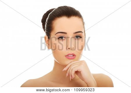 Beautiful glamour woman with fresh daily makeup.