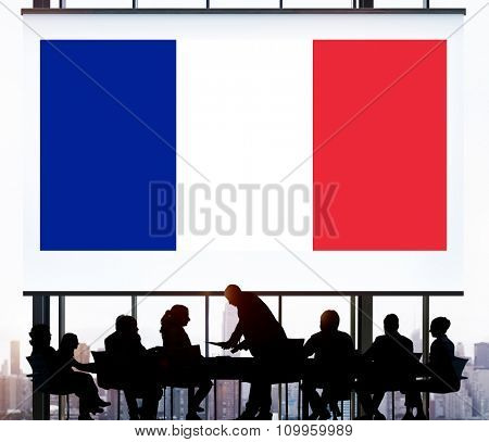 France Country Flag Nationality Culture Liberty Concept