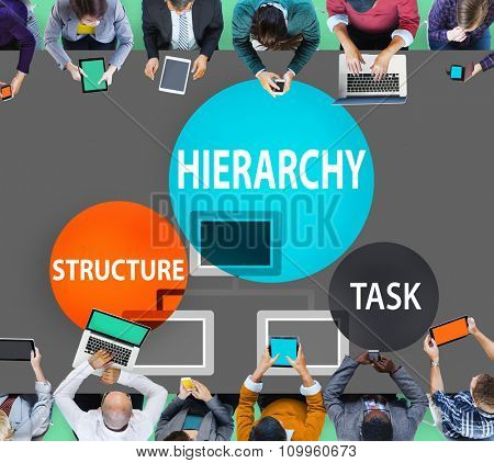 Hierarchy Structure Task Multilevel Employment Concept