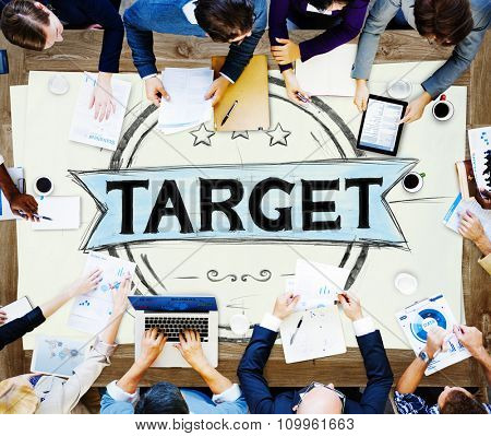 Business Target Customer Product Sales Selection Customize Concept