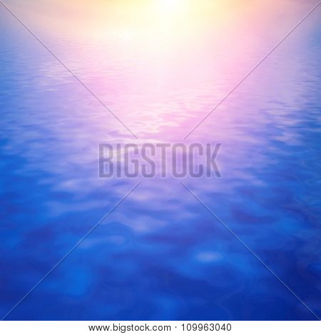 natural landscape with sky at sunset reflected in water