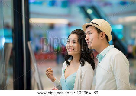 Looking at showcase