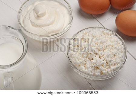 Cottage Cheese, Milk, Eggs, Sour Cream