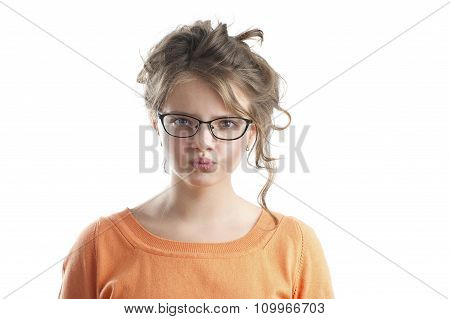 Portrait Of An Angry Little Girl