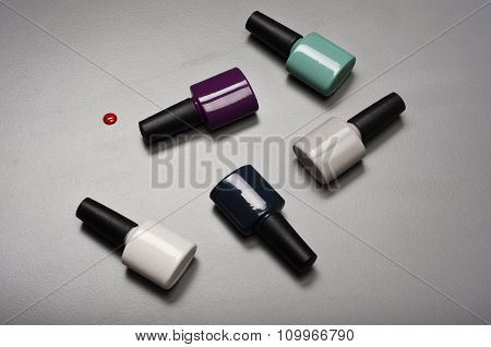 Collection Of Various Nail Polish Bottles