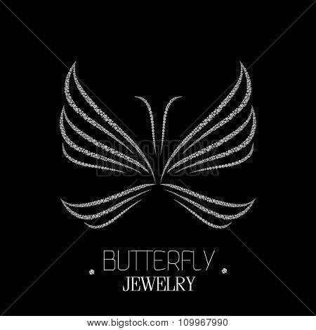 Beautiful Luxury Butterfly Made Of Diamonds