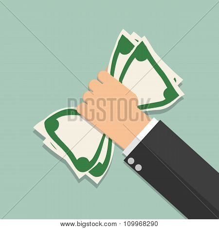 money in hand illustration
