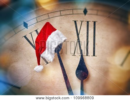 Christmas Eve! Five minutes before midnight. Holiday concept.