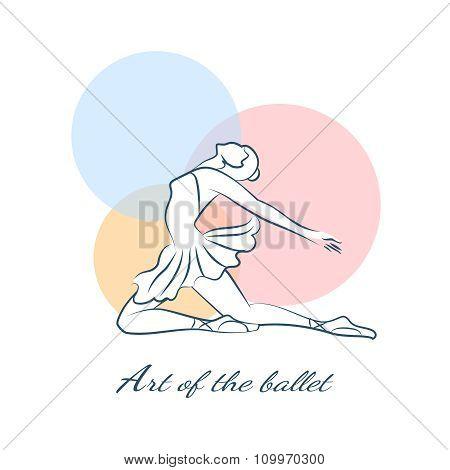 Art of the ballet logo with ballerina
