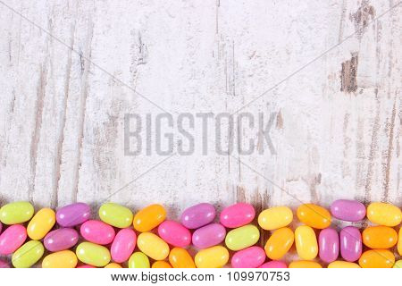 Frame Of Colorful Candies, Copy Space For Text