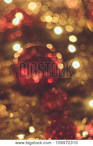 Blurred Christmas Decoration Background