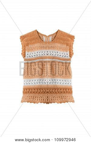 Orange Knitted Top