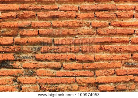 Deteriorated Brick Wall Background