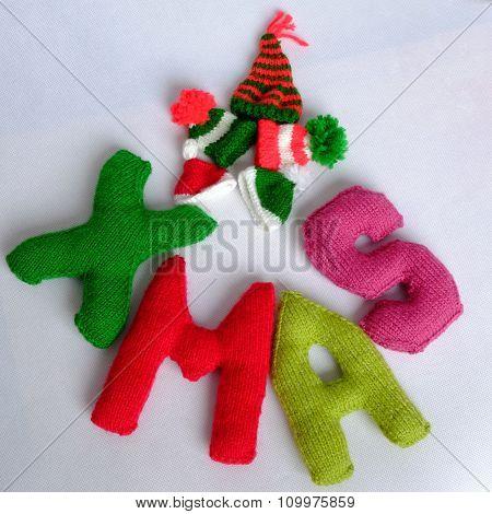 Christmas, Xmas Alphabet, Handmade, Knitted, Noel Gift