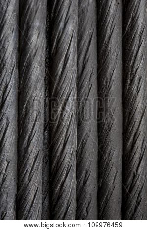 Black Steel Cable Background