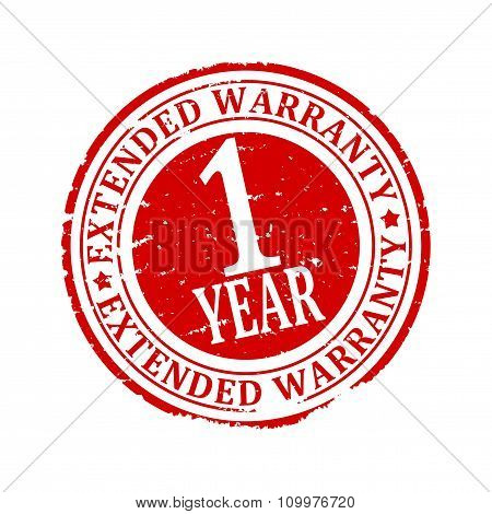 Damaged Round Stamped - Extended Warranty 1 Year - Illustration