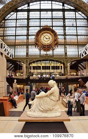 Paris, France - May 14, 2015: Visitors In The Musee D'orsay In Paris