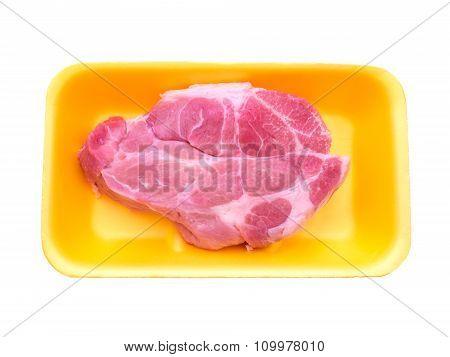 Pork Collar Butt Isolated On White