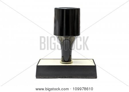 Black stamp isolated on white background