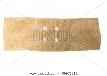 Adhesive plasters isolated on white background