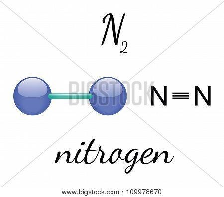 N2 nitrogen molecule