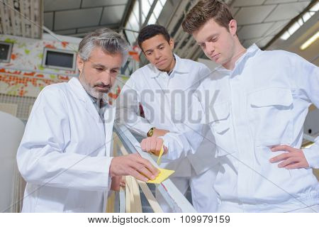 apprentices observing their teacher
