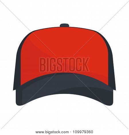Baseball Red Cap Vector.