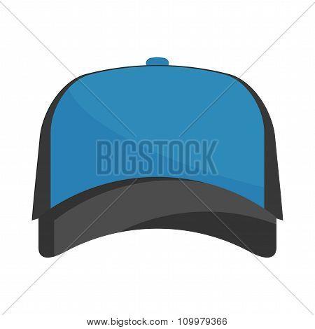 Baseball  Blue Cap Vector.