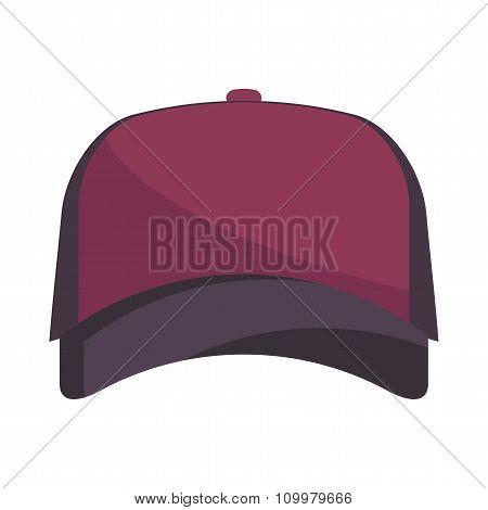 Baseball Purple Cap Vector.
