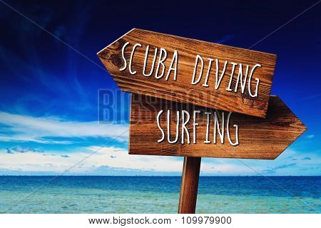 Scuba Diving Or Surfing Activity