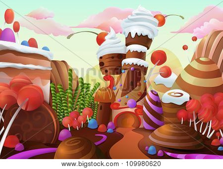 Sweet vector background