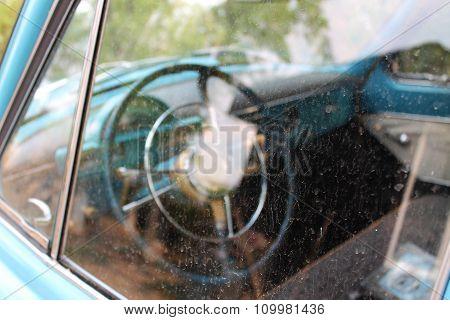 Old car's rudder