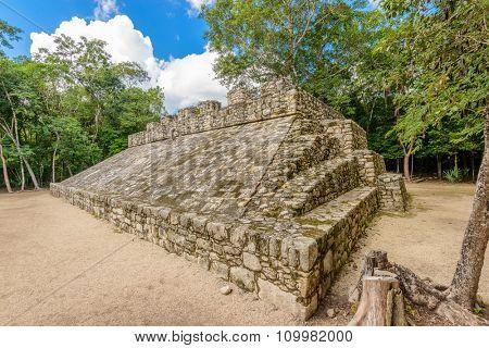 Mayan Pyramid in Coba. Mexico.