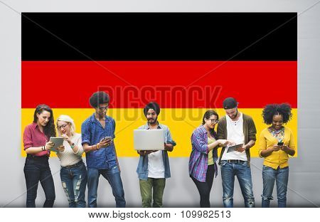 Germany Country Flag Nationality Culture Liberty Concept
