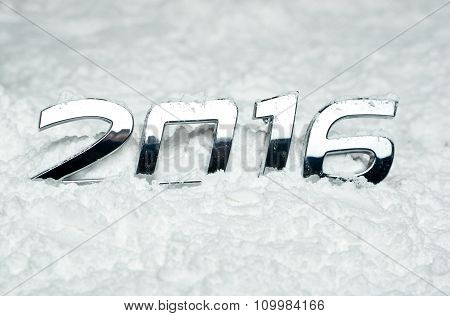 Number 2016 On Snow