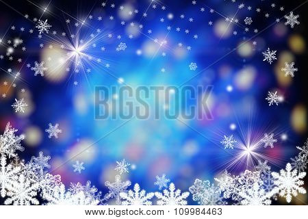 Abstract Blue Xmas Background