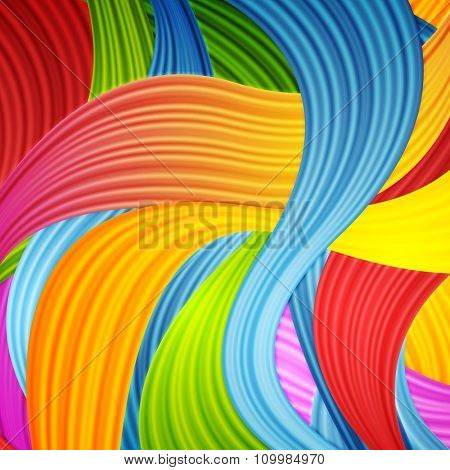 Abstract colorful wavy pattern design. Vector background