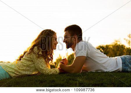 Romantic date. Love story.