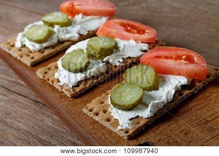 Tartlets With Cucumbers Tomatoes And Cheese
