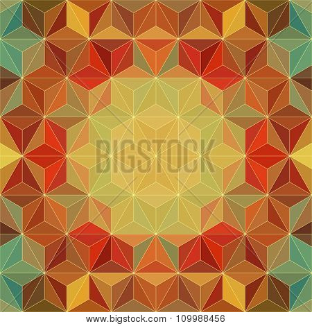 Vector Flower Pattern. Abstract Triangle Background