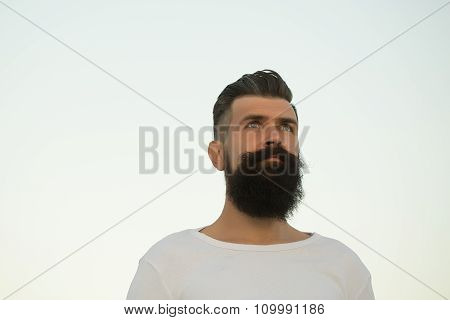 Bearded Man Outdoor