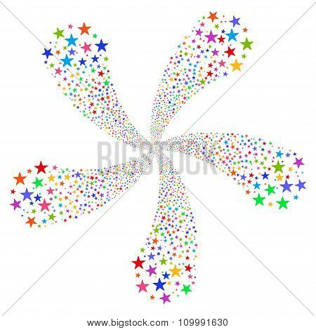 Star Fireworks Flower With Five Petals