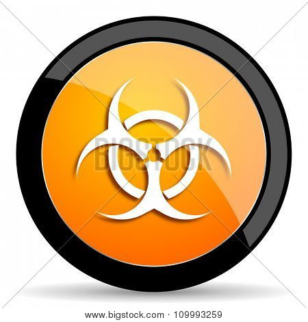 biohazard orange icon