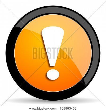 exclamation sign orange icon