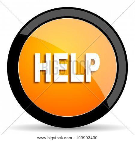 help orange icon