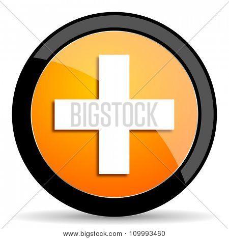 plus orange icon