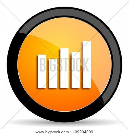 graph orange icon